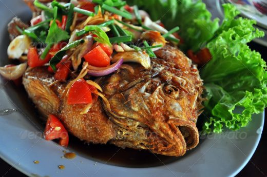 Fried fish appetizer